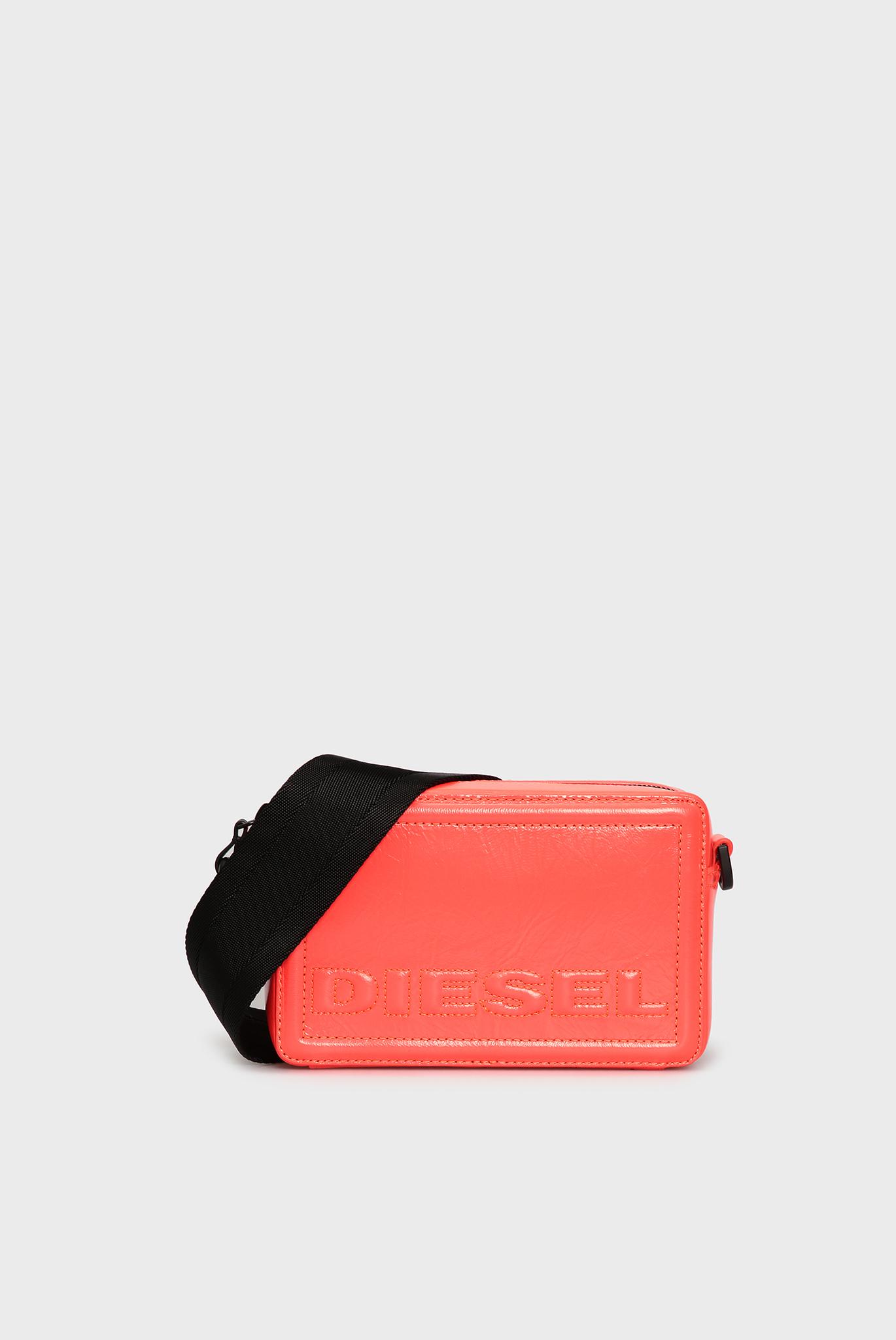 Женская красная кожаная сумка ROSA Diesel