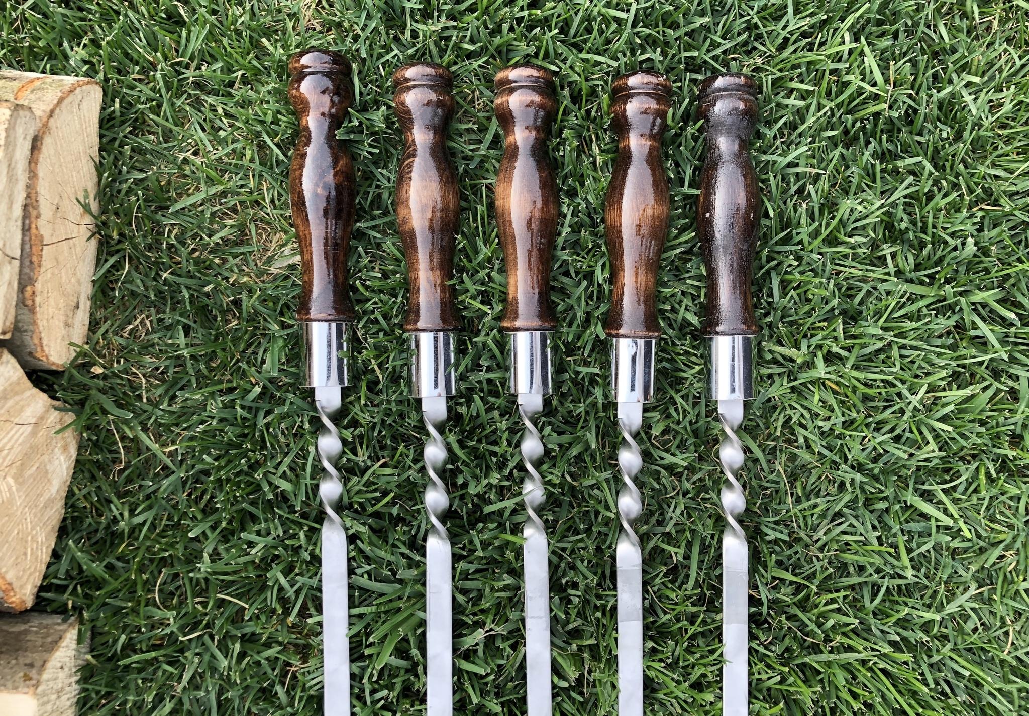 Шампуры из нержавейки Шампур с деревянной ручкой 3мм (ширина 16мм) №6 IMG_3766.JPG