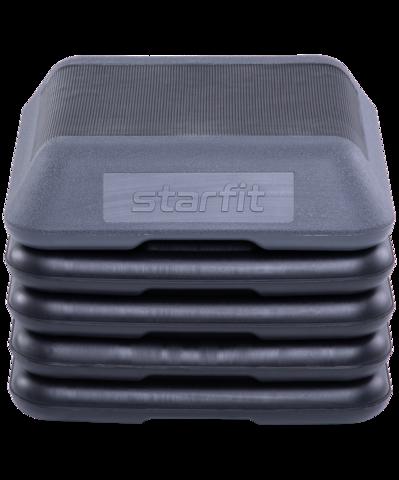 Степ-платформа SP-401 40х40х30 см, 5-уровневая, квадратная, с обрезиненным покрытием
