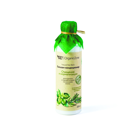 OZ! Бальзам Очищение и нормализация для жирных у корней и сухих на кончиках волос (250 мл)