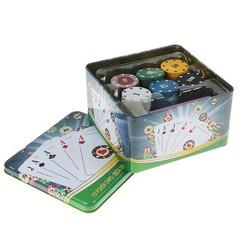 Набор для игры в покер с картами и фишками, фото 2