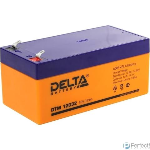 Delta DTM 12032  (3.2 А\ч, 12В) свинцово- кислотный аккумулятор