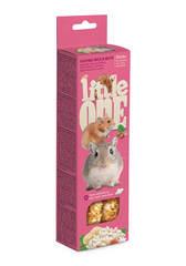 Палочки Little One для хомяков, крыс, мышей, песчанок с воздушным рисом  и орехами (2х55 гр)