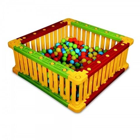 Пластиковый квадратный манеж для шаров, высота 51 см