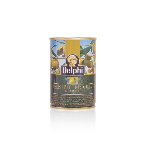 Оливки без косточки в рассоле DELPHI 400 гр жесть