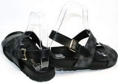 Брендовые мужские сандали Louis Vuitton 1008 01Blak.