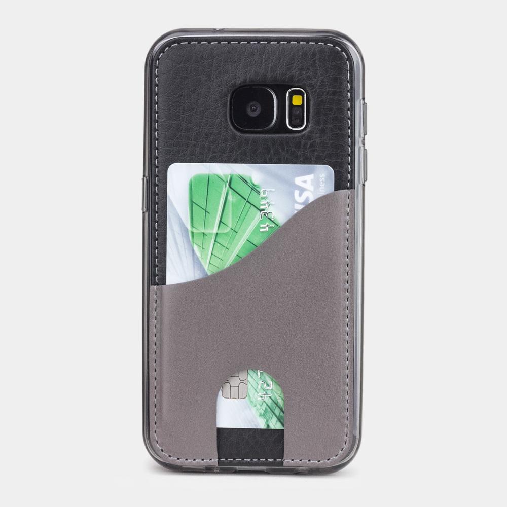 Чехол-накладка Andre для Samsung S7 из натуральной кожи теленка, черного цвета