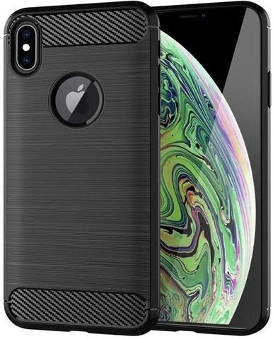 Чехол для iPhone XS Max цвет Black (черный), серия Carbon от Caseport