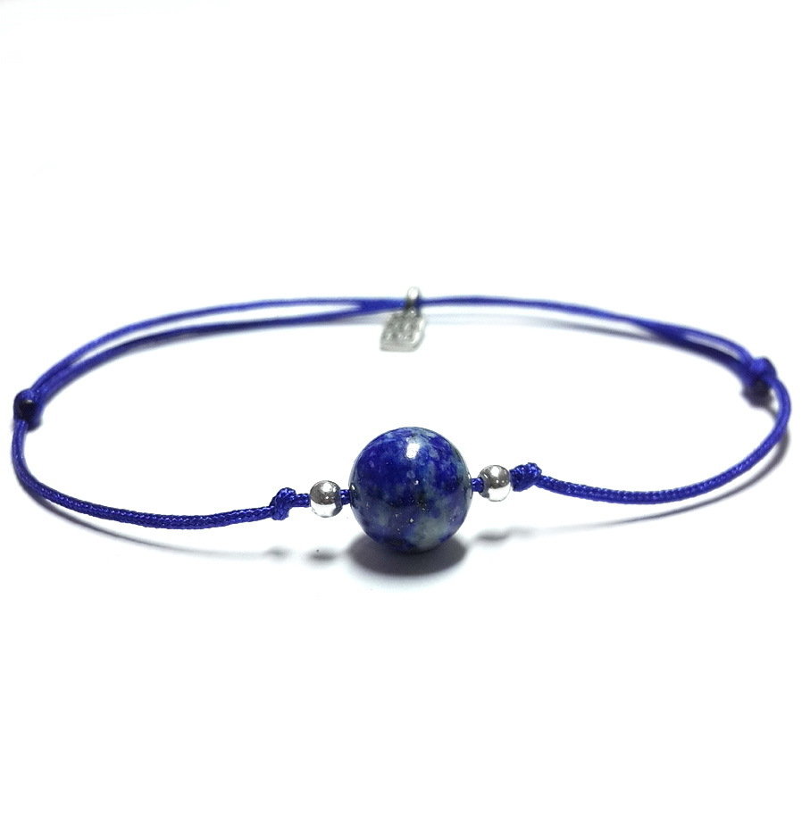 Bracelet for the 6th chakra with lazurite