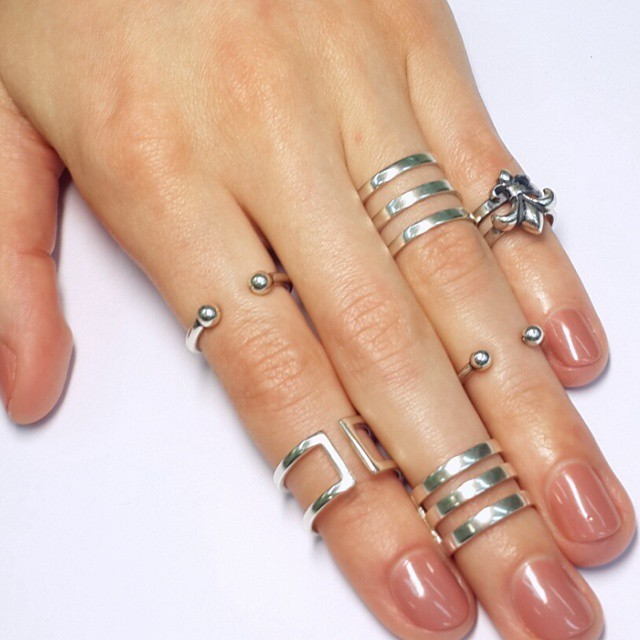 Phalanx Ring Trio, the small one, Sterling Silver