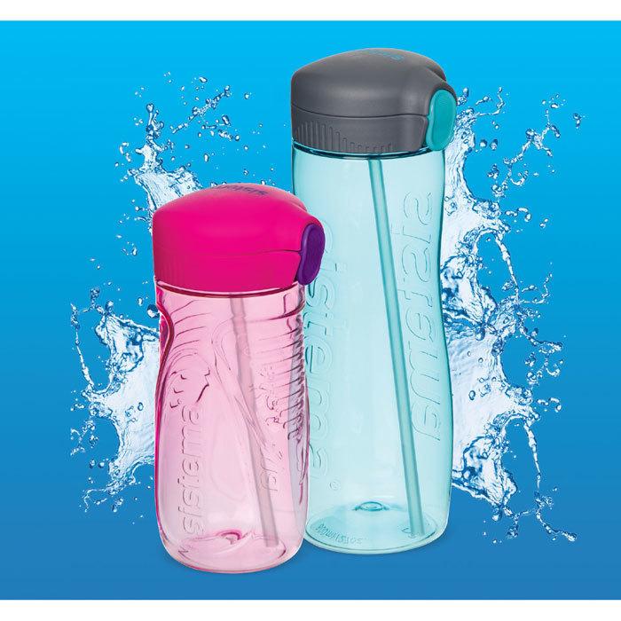 "Бутылка для воды с трубочкой Sistema ""Hydrate"", Тритан, 800 мл, цвет Фиолетовый"