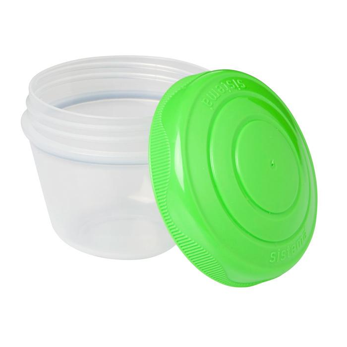 """Контейнер для йогурта Sistema """"TO GO"""" 150 мл, 2шт., цвет Фиолетовый/Зеленый"""
