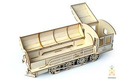 Паровоз-пенал от Lemmo. Деревянный конструктор, сбрная модель