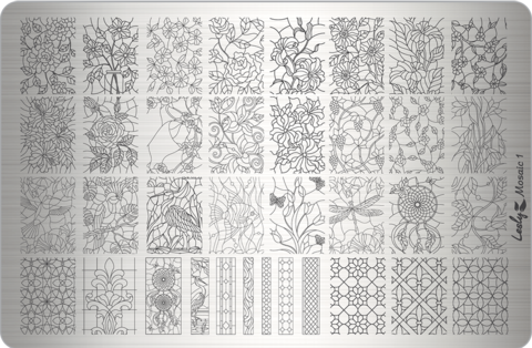 Пластина LESLY 9,5x14,5см Mosaic 1