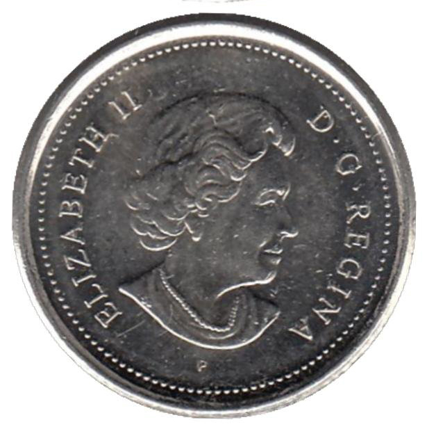 10 центов 2004 год. Парусник. UNC