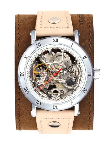 Часы скелетоны мужские механические Desert YOURTIME