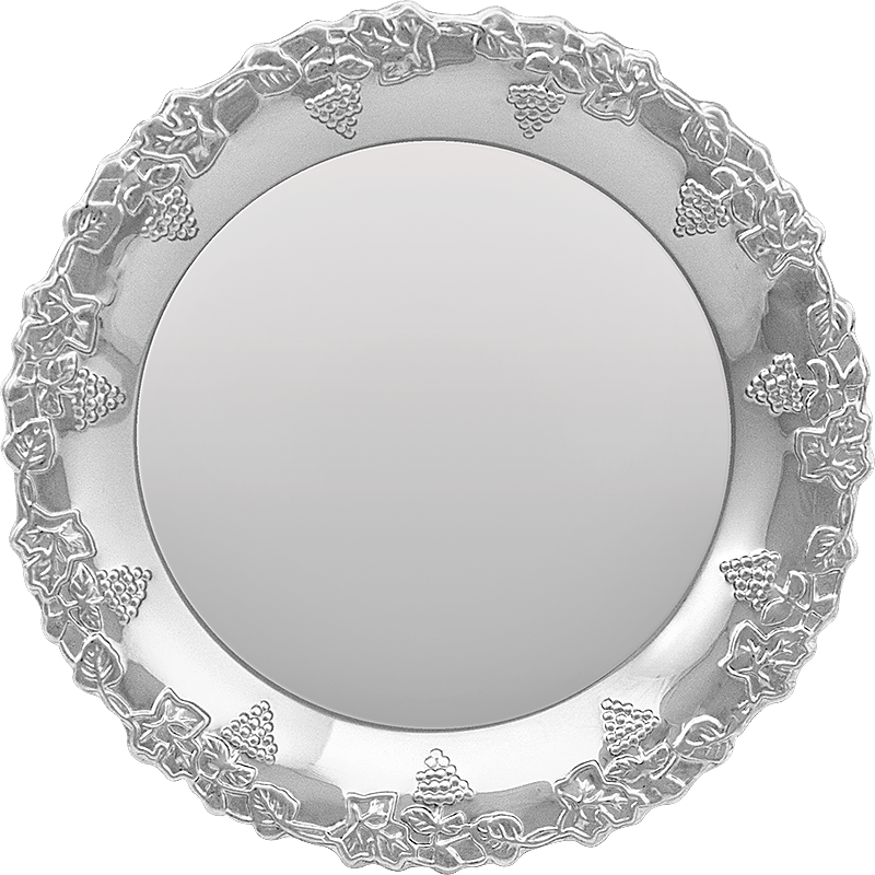 Тарелка серебро для гравировки