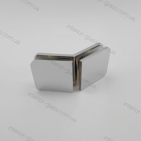 Соединитель стекло-стекло 135 град. HDL-726 PSS литой нерж. сталь