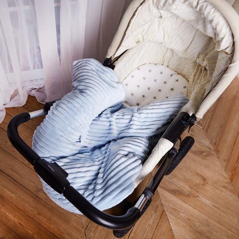 Постельное белье для коляски 4-02 80х80 смГолубой