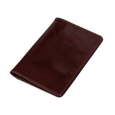 Обложка для паспорта Grand из натуральной кожи цвета темный коньяк (02-005-0823)