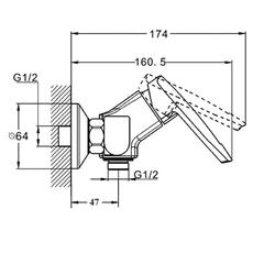 Фото размеры смесителя для душа Zegor Z63-NOF5-A033