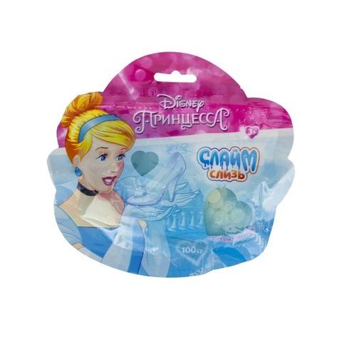 Слайм тайм Принцессы Дисней слизь в пакете 100 г, 1кор*4бл*12 шт.