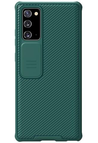 Чехол темно-зеленого цвета с защитной шторкой камеры от Nillkin для Samsung Galaxy Note 20 серии CamShield Pro Case