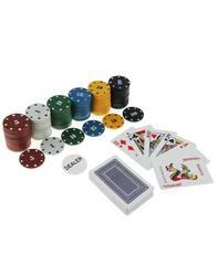Набор для игры в покер с картами и фишками, фото 1