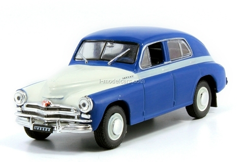 GAZ-M20V Pobeda white-blue 1:43 DeAgostini Auto Legends USSR Best #1