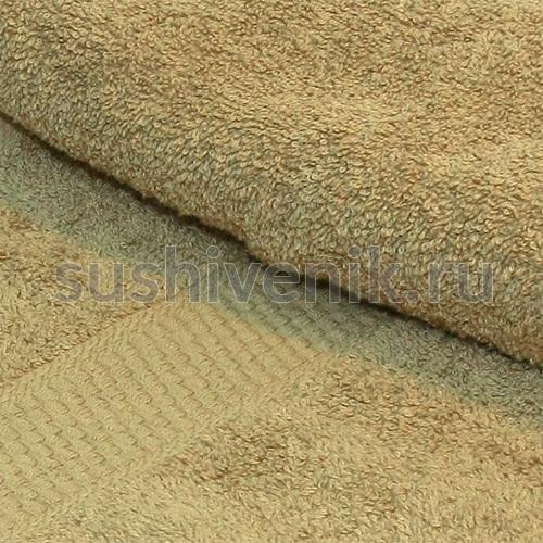 Полотенце бежевое махровое 140х70