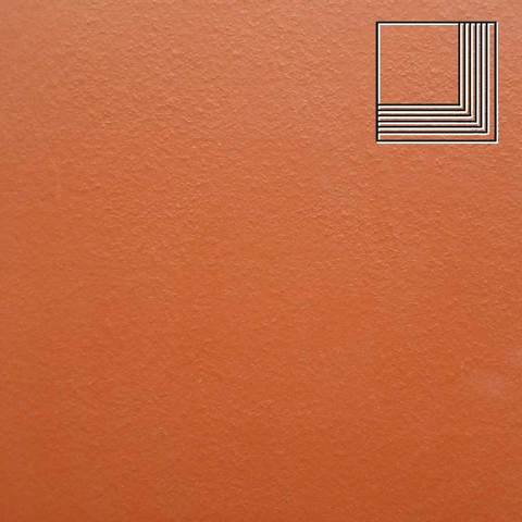 Ceramika Paradyz - Natural Rosa Duro, 300x300x11, артикул 33 - Ступень угловая структурная