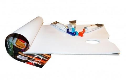 Бумажная одноразовая палитра (Плотность 80 мг/м2, размер 23х30,5 см, 40 листов)