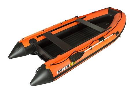 Надувная ПВХ-лодка Солар - 420 Jet Tunnel (оранжевый)