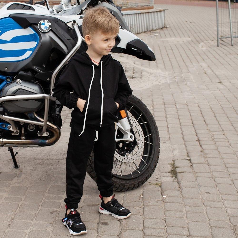 Спортивний костюм oversize чорного кольору на хлопчика