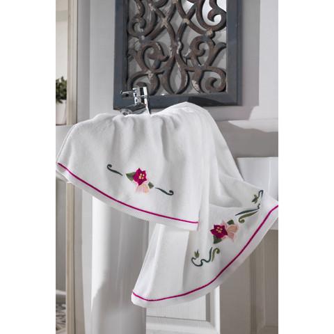 Lily (фуксия) полотенце махровое Soft Cotton (Турция)