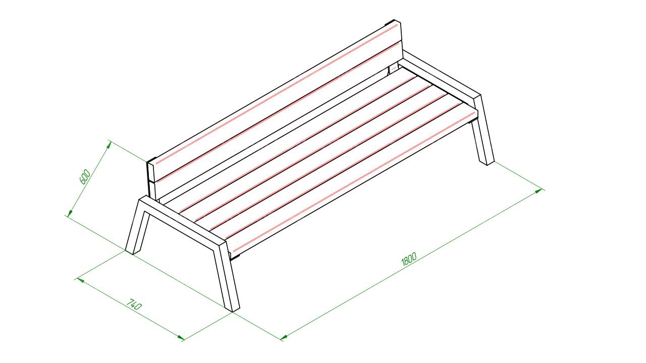 Скамейка диван SCAM0057