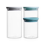 Набор модульных стеклянных банок 3шт, артикул 298325, производитель - Brabantia