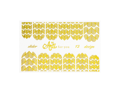 Фольга для дизайна ногтей цвет золото 13 купить за 120руб