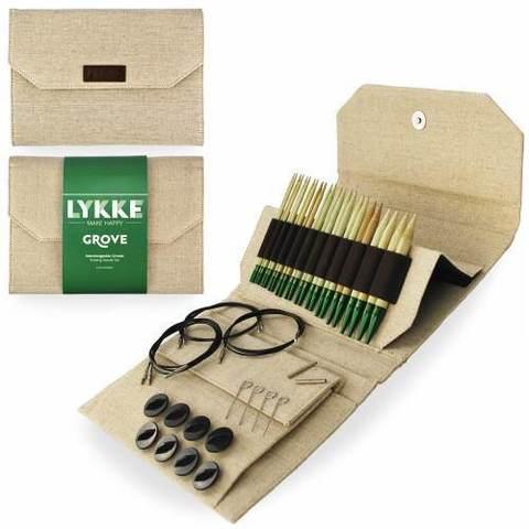 Набор стандартных бамбуковых разъемных спиц Lykke GROVE BEIGE 11,5 см