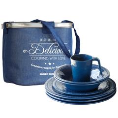 Melamine Tableware Pack Harmony Blue, 6 Person