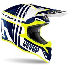 Кроссовый шлем Airoh Wraap Белый-Синий размер M (57-58)