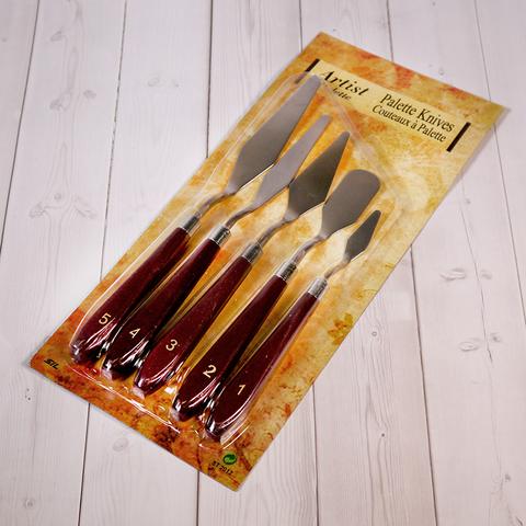 Набор мастихинов с пластиковой ручкой, 5шт