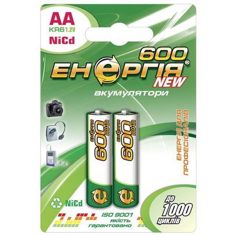 Аккумуляторы Энергия R6 600mAh