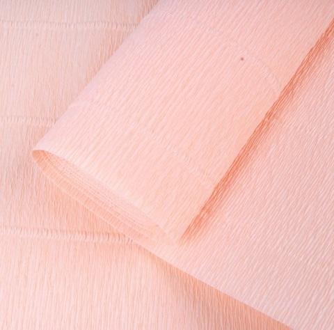 Бумага гофрированная, цвет 17А/5 персиковый, 180г, 50х250 см, Cartotecnica Rossi (Италия)