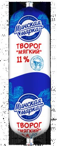 Творог мягкий 11% 400г. Минская марка