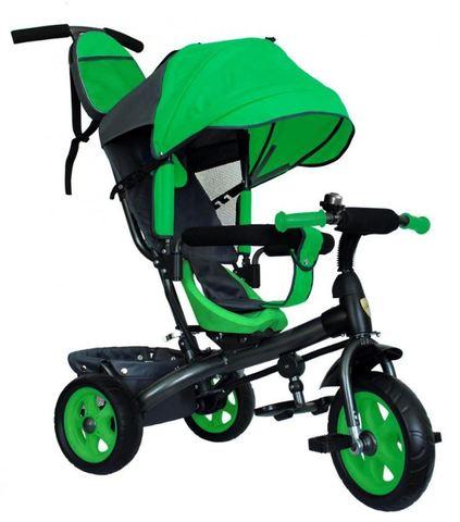 Велосипед детский с литыми колёсами (зелёный-серый)