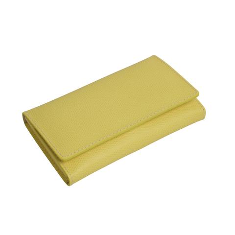 Маникюрный набор Erbe, 7 предметов, кожаный футляр, цвет желтый