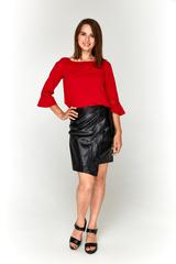 Красная блузка-сеточка Lolly из софта