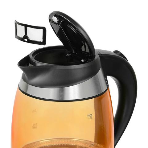 Чайник электрический Starwind (1,8 литра) 2200 Вт, LED подсветка, оранжевый