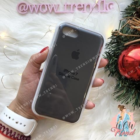 Чехол iPhone 7/8 Silicone Case /cocoa/ какао original quality